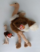 Stretch the Ostrich 1998 TY Beanie Buddy and 1993 Teenie Beanie Baby wit... - $14.54