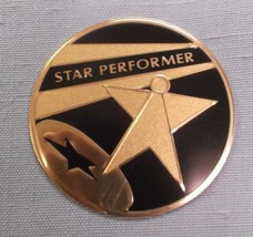 """lot of 12 high quality STAR PERFORMER metal insert trophy parts 2"""" diameter - $8.79"""