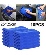 10pcs car cleaning towel microfiber car wash(10PC bule) - $17.18