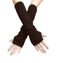 Unisex Classic Darl Brown Fashion Stretch Fingerless Arm Warmers - $159,32 MXN