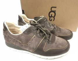 Ugg Australia Deaven Mouse Gold Suede Lace Up Shoes Tennis Sneakers 1019655 image 4