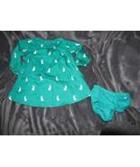 Baby Gap Girls Size 6-12 Months Bunny Antler Jackalope Print Dress Green - $14.84