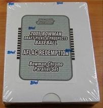 2005 Bowman Chrome Draft Aflac Set Completo Precinto de Fábrica - $70.20