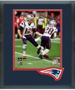 Tom Brady & James White Super Bowl LIII-11x14 Team Logo Matted/Framed Photo - $43.55