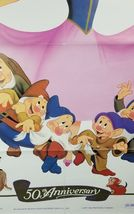 "Snow White & the Seven Dwarfs 50th Movie Poster 41""x27"" Original Rolled Ship image 8"