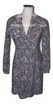 NWT LA VIA 18 Lavia 40 paisley dress above knee multi color Italy $495 b... - $130.94
