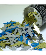 Tabletop Shark Blue Gold Silver mix confetti Bag 1/2 Oz Free Shipping CC... - $99.99
