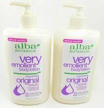 Alba Botanica Very Emollient Body Lotion Original Unscented 20 oz (2 PACK)  - $19.79