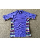 Patagonia Swim Shirt Kid's Childrens Girls XL 14 Purple Multi-color Nati... - $10.88