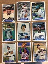 1982 Fleer Los Angeles Dodgers Complete Team Set NM Condition 20697 - $5.99