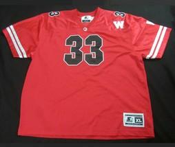 Starter Jersey Wisconsin Badgers Ron Dayne #33 Red Shirt XL Men's NCAA - $25.74