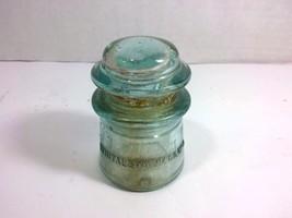 Vintage WHITALL TATUM Nr.9 Glass Electrical Insulator (Aqua Blue, Made i... - $19.75