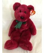 "1998 Ty Retired Beanie Buddy Plush Cranberry Bear Large 13"" MWMT - $11.87"