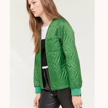 STUSSY Stall Quilted Convertible Womens Jacket Size L Green $145 - $69.29