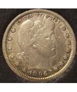 1896 Barber Silver Quarter VF Details #0611 - $31.99
