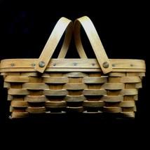 Longaberger 93' Medium Gathering Basket Swing Handles Vintage 1993 Colle... - $19.25