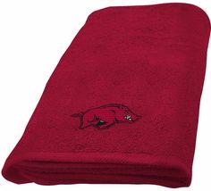 University of Arkansas Razorbacks Hand Towel dimensions are 15 x 26 inches - $16.95
