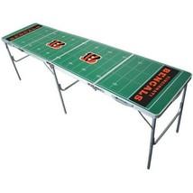 Cincinnati Bengals Beer Pong Table 2ft x 8ft Foldable NFL Football Field... - $216.14