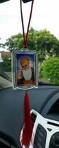 Primera Sij Guru Nanak Dev Ji y Khanda Leyenda Colgante Coche Trasero Es... - $7.92