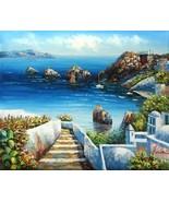 Cozy Harbor Original Oil Painting Seascape - $69.29