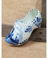 Vintage Delft ceramic large Dutch Holland shoe wall hanging decor hand p... - $28.62