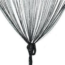 TRIXES Dew Drop Window Curtain - Black String Door Divider - 90x200cm - $8.90