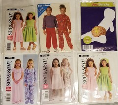 #G18, Lot of 8 Toddler Baby Sewing Patterns, cut - $9.99