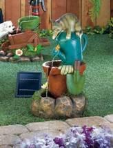 10018360 SHIPS FREE Cascading Fountains Solar Kitten Water Fountain - $177.34