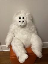 "Vintage Hug & Luv Gorilla Plush Ape Stuffed Animal Large 29"" White - $59.40"
