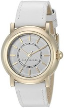 Marc Jacobs Women's Courtney White Leather Strap Watch – Gold - $74.90