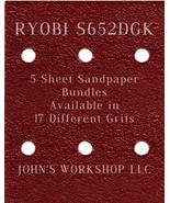 RYOBI S652DGK - 1/4 Sheet - 17 Grits - No-Slip - 5 Sandpaper Bulk Bundles - $7.14