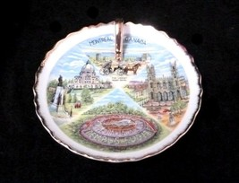 Nappy Plate Hand Painted Montreal Canada Porcelain Decorative Vintage So... - $117.57