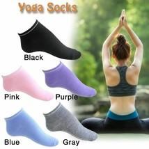 Women Yoga Socks Non Slip Pilates Massage Sport Ankle Sock With Grip Gym... - £2.76 GBP