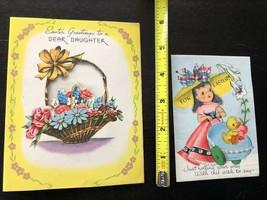 Easter Basket Card Floral Stroller Die Cut Lot Vtg 40s Darling Gibson Gals - $15.14