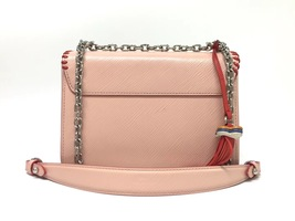 100% AUTH Louis Vuitton PINK FLOWER PRINT LIMITED EPI TWIST PM Leather Bag image 2