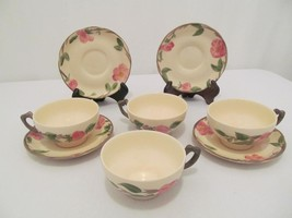 """Franciscan Desert Rose - 5 7/8"""" Teacup / Coffee Cup & Saucers - Set of 4 - $30.00"""