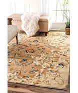 Traditional Area Rug Persian Vintage Design Carpet Beige Distressed Livi... - $129.91