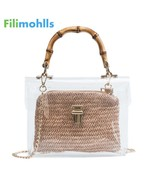 Transparent Bag For Women 2019 Handbag With Bamboo Handle Summer Small C... - $24.19