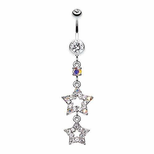 Primary image for Jeweled Star Drop WildKlass Belly Button Ring