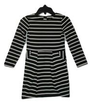 NWOT H&M Girls Black White Striped Long Sleeve Dress Size 110-116 4-6 Years - $12.86