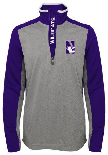 XL (18) Northwestern Wildcats Boy's Shirt Matrix Lightweight 1/4 Zip Pullover