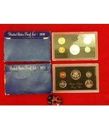 US Proof Set 1970 and 1972 2 Sets 10 Coin Lot  Original Blue Box Mint - $25.00