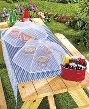 Set of 2  Mesh Food Tent Covers Protect Food From Bugs Outdoor BBQ Cooki... - $9.73