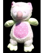 "Stephan Baby Plush Owl Pastel Green Pink Polka Dot Toy Lovey 13.5"" - $11.16"