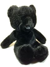 Vintage Eden Toys Midnight Black Teddy Bear Plush Stuffed Animal Made in... - $39.99