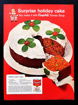 Vtg 1962 Campbell's soup kid holiday cake recipe advertisement print ad art - $11.38