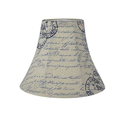 Urbanest Chandelier Lamp Shade, 3-inch by 6-inch by 5-inch, Bell, Vintage Script