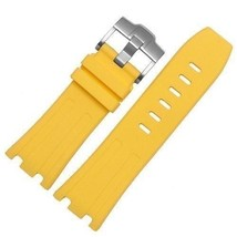Bracelet FOR Audemars Piguet Royal Oak offshore rubber band 28mm Yellow ... - $24.78+
