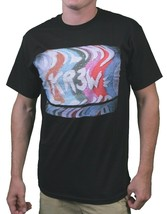 KR3W Skateboard Noir Hommes Static Bruit Mural Art Standard T-Shirt K52594 Nwt