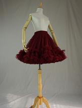 Red Layered Tulle Tutu Skirt Puffy Ballerina Tulle Skirt Ballet Skirt image 4
